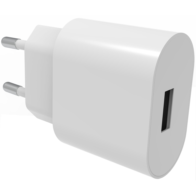 USB Väggladdare 2.4A Vit