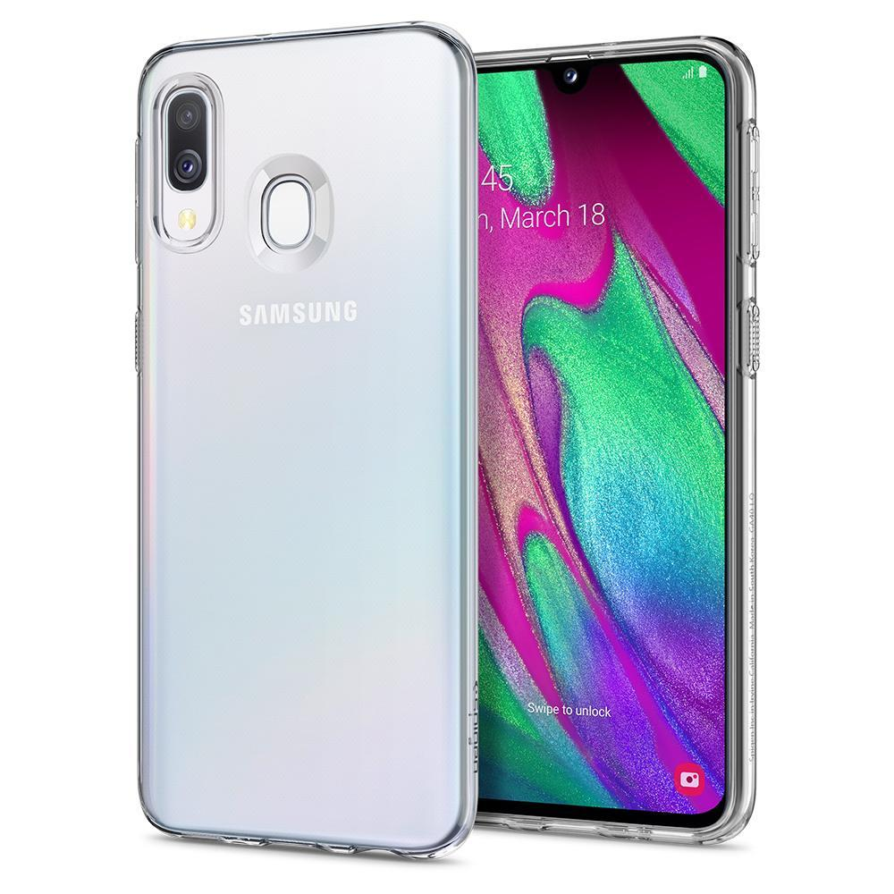 Galaxy A40 Case Liquid Crystal Clear