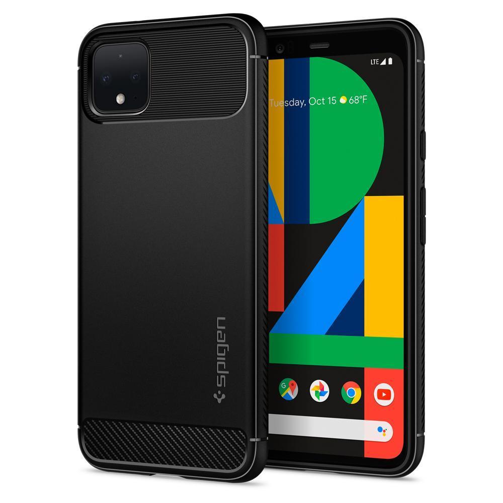 Google Pixel 4 XL Case Rugged Armor Black