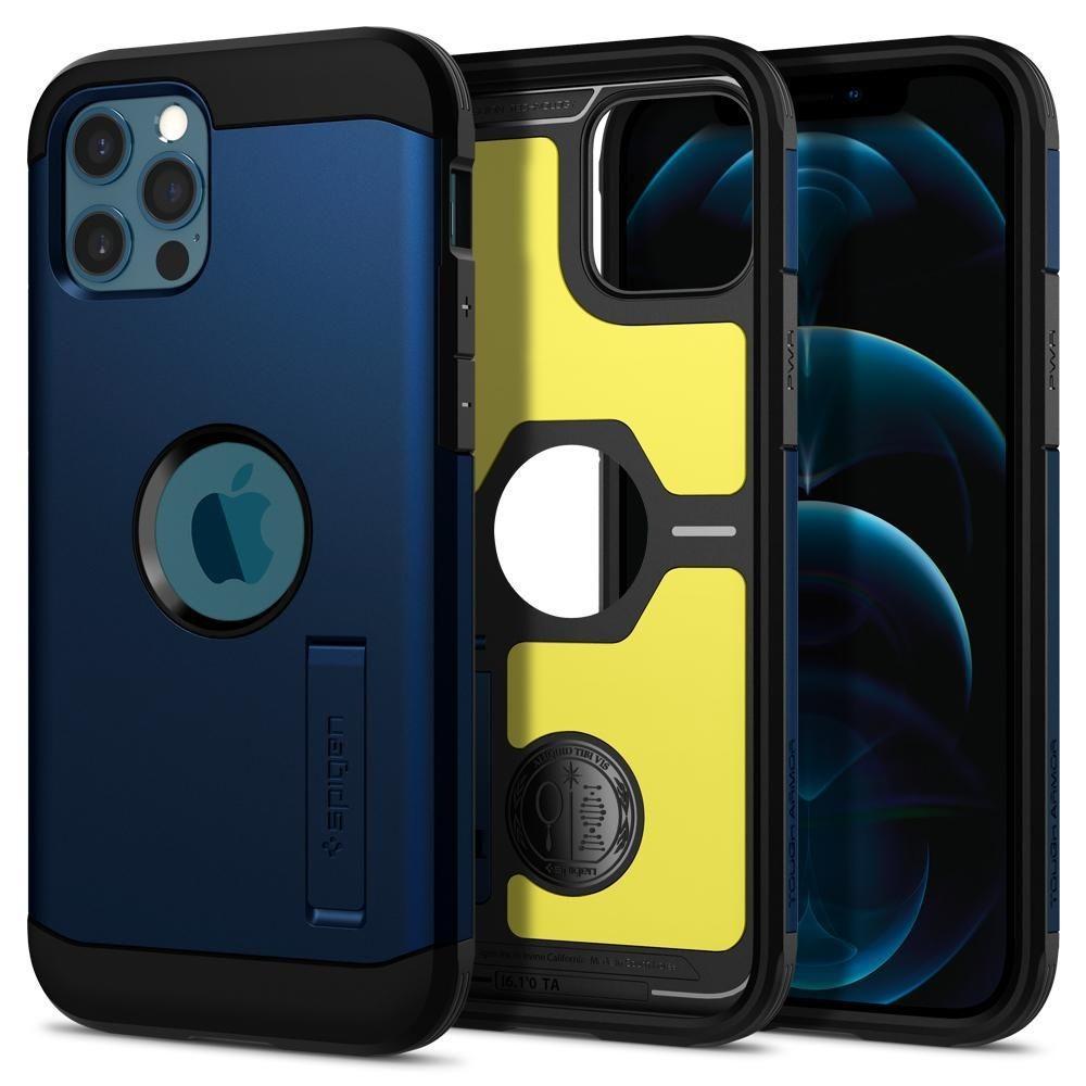 Apple iPhone 12/12 Pro Case Tough Armor Navy Blue