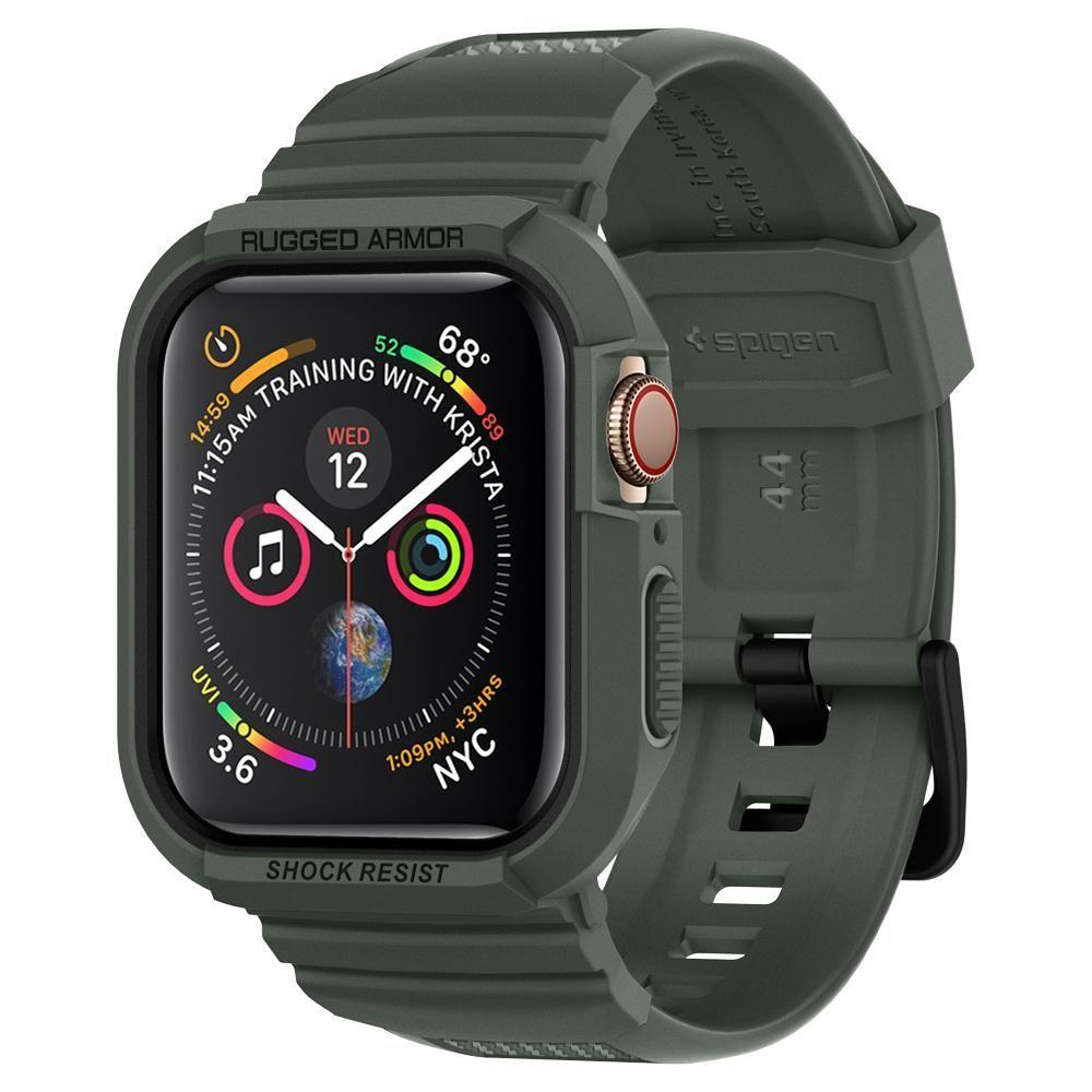 Apple Watch 44mm Case Rugged Armor Pro Military Green