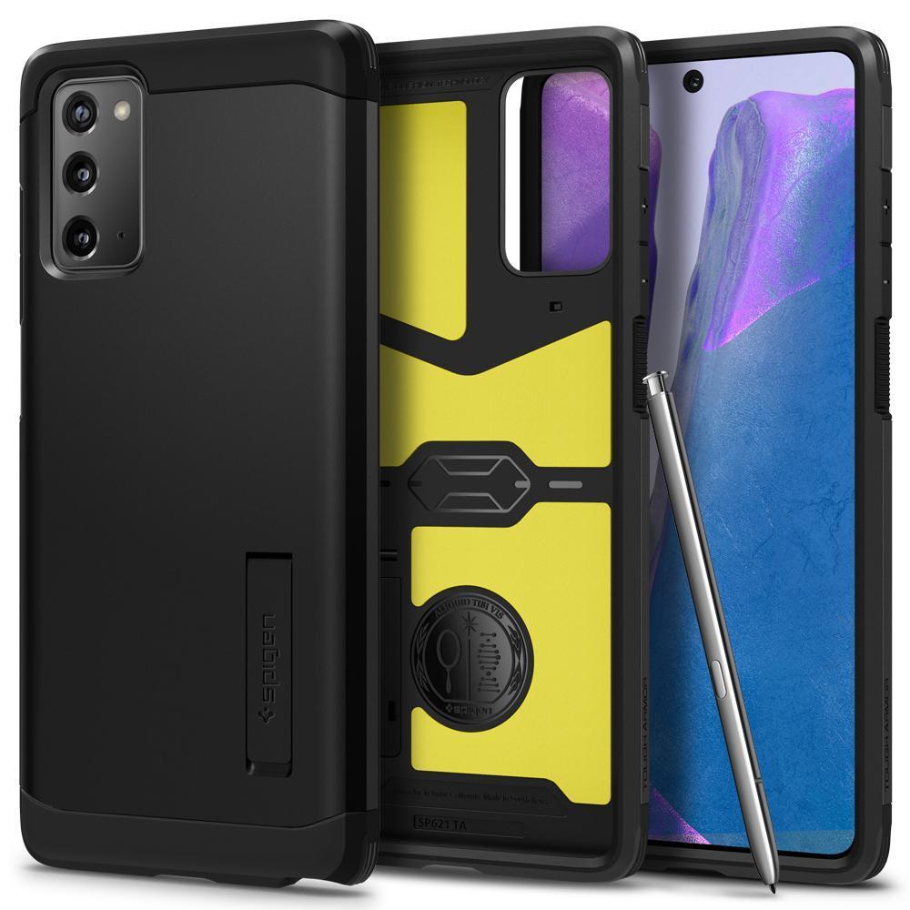 Galaxy Note 20 Case Tough Armor Black