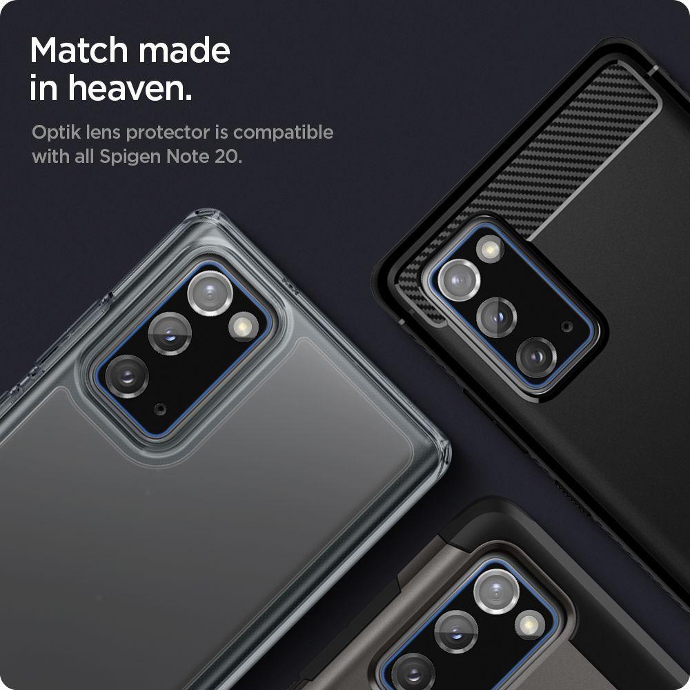 Galaxy Note 20 Optik Lens Protector Black (2-pack)