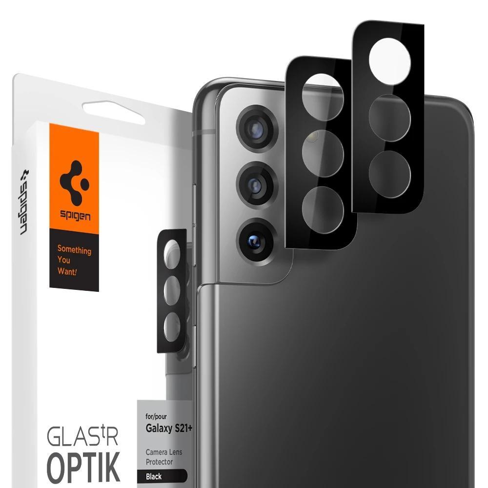 Galaxy S21 Plus Optik Lens Protector Black (2-pack)