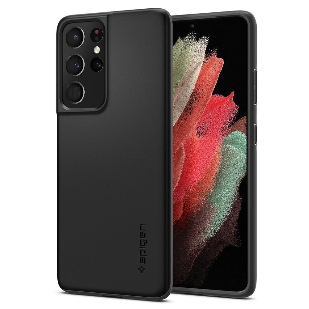 Galaxy S21 Ultra Case Thin Fit Black