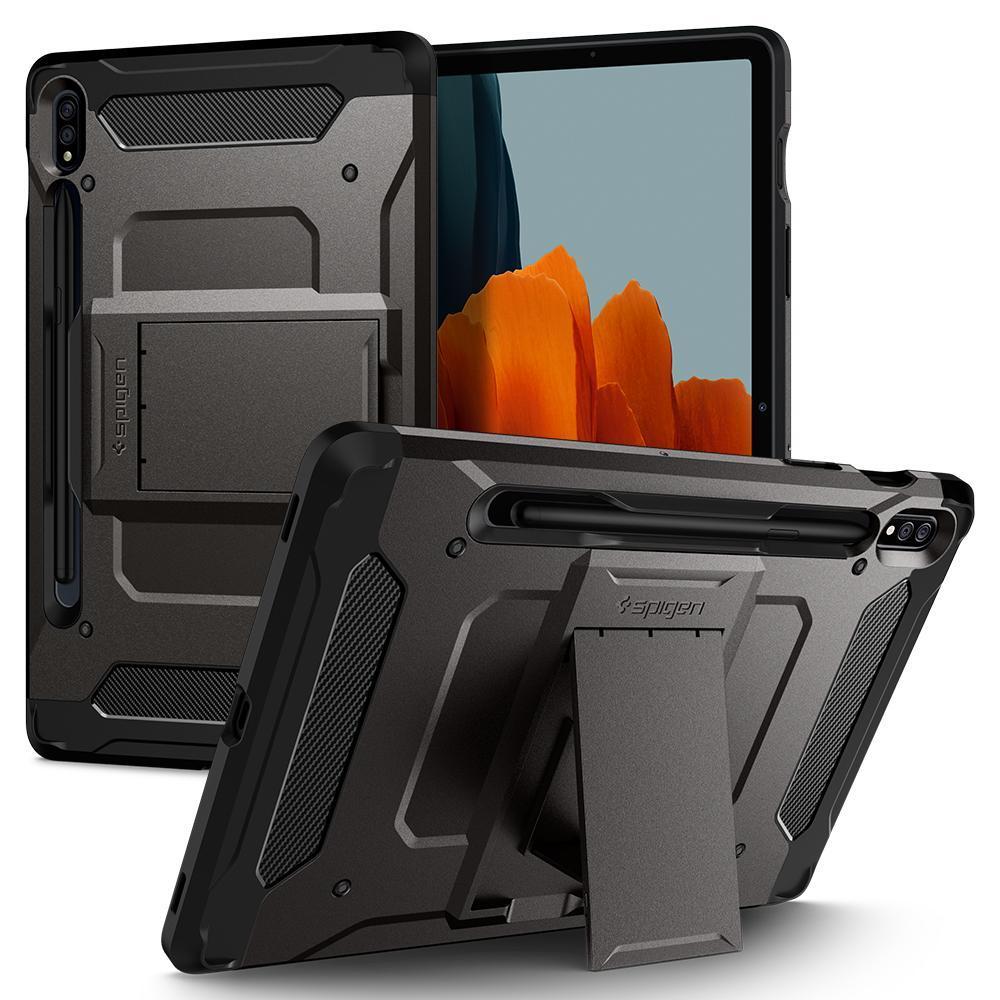 Galaxy Tab S7 11.0 Case Tough Armor Pro Gunmetal