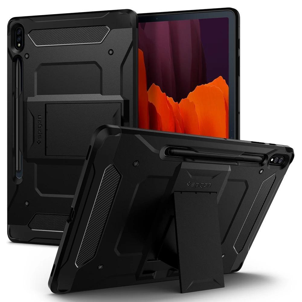 Galaxy Tab S7 Plus 12.4 Case Tough Armor Pro Black