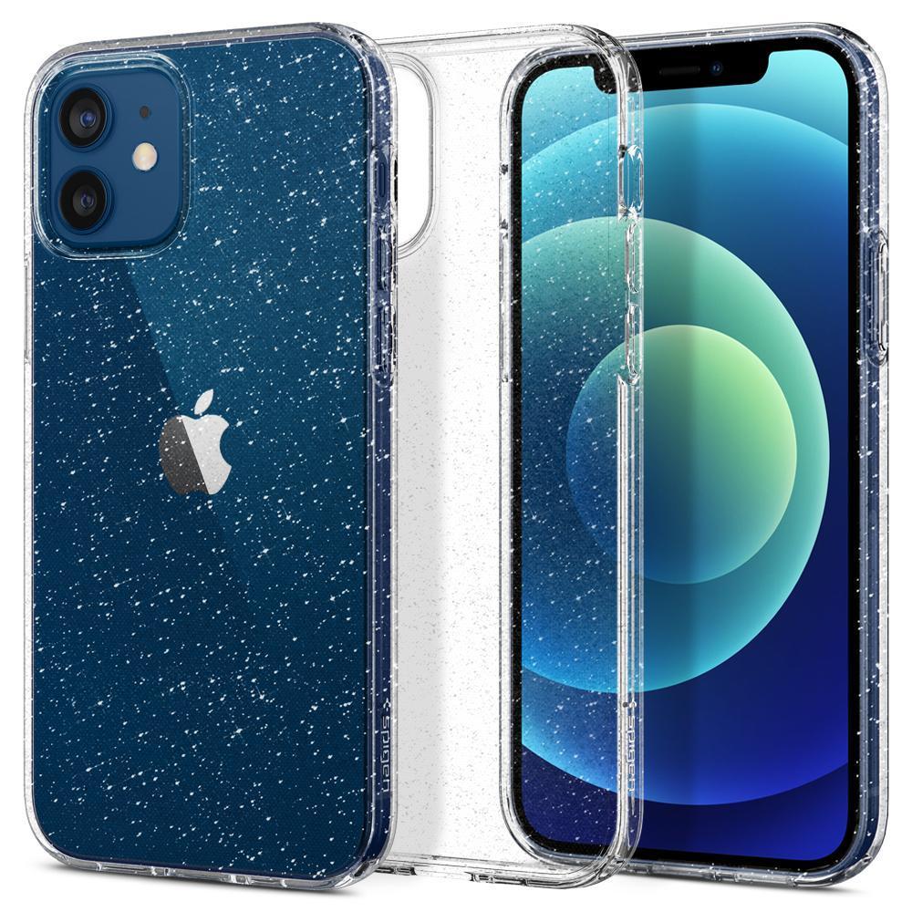 iPhone 12/12 Pro Case Liquid Crystal Glitter Crystal
