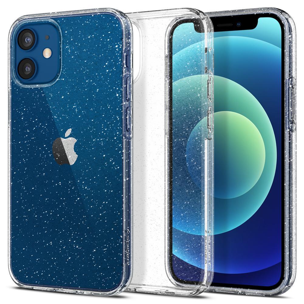 iPhone 12 Mini Case Liquid Crystal Glitter Crystal