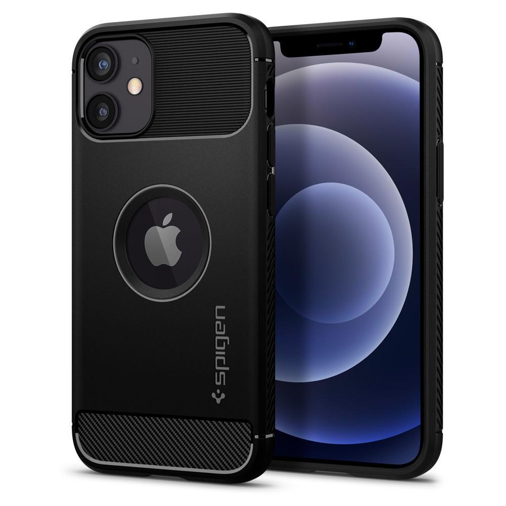 iPhone 12 Mini Case Rugged Armor Black