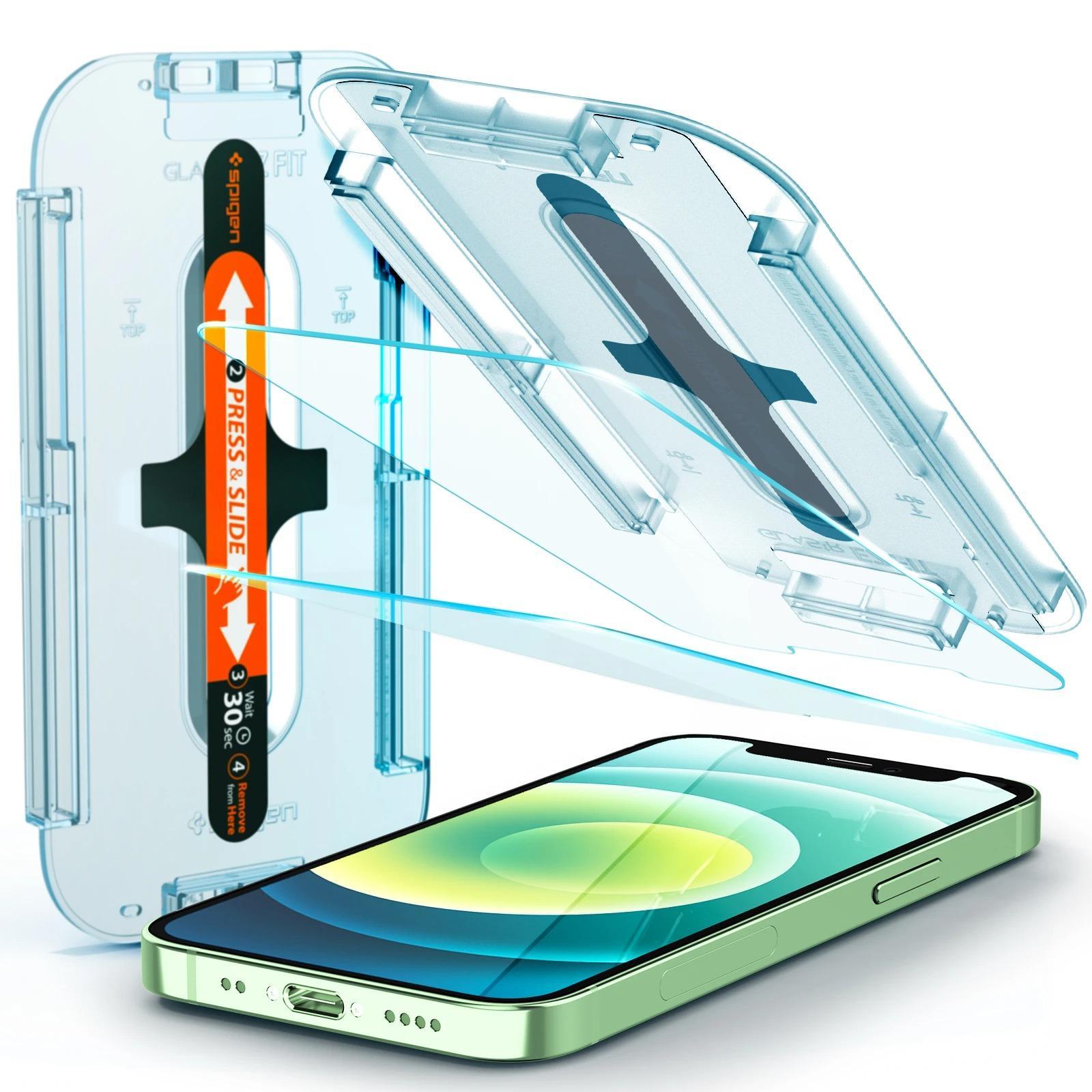iPhone 12 Mini Screen Protector GLAS.tR EZ Fit (2-pack)