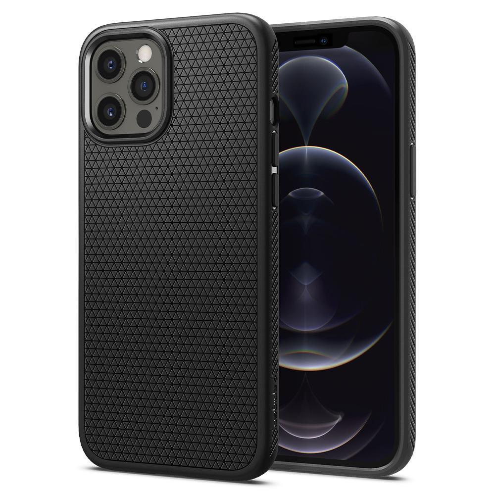 iPhone 12 Pro Max Case Liquid Air Black