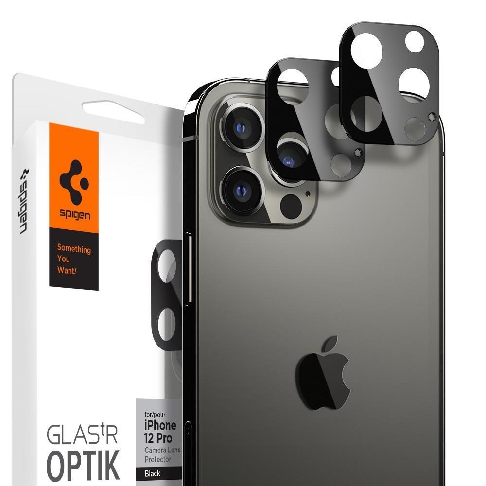 iPhone 12 Pro Optik Lens Protector Black (2-pack)