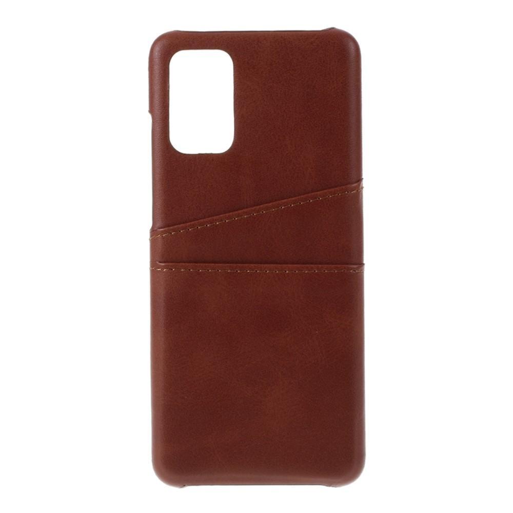 Card Slots Case Samsung Galaxy S20 Plus brun