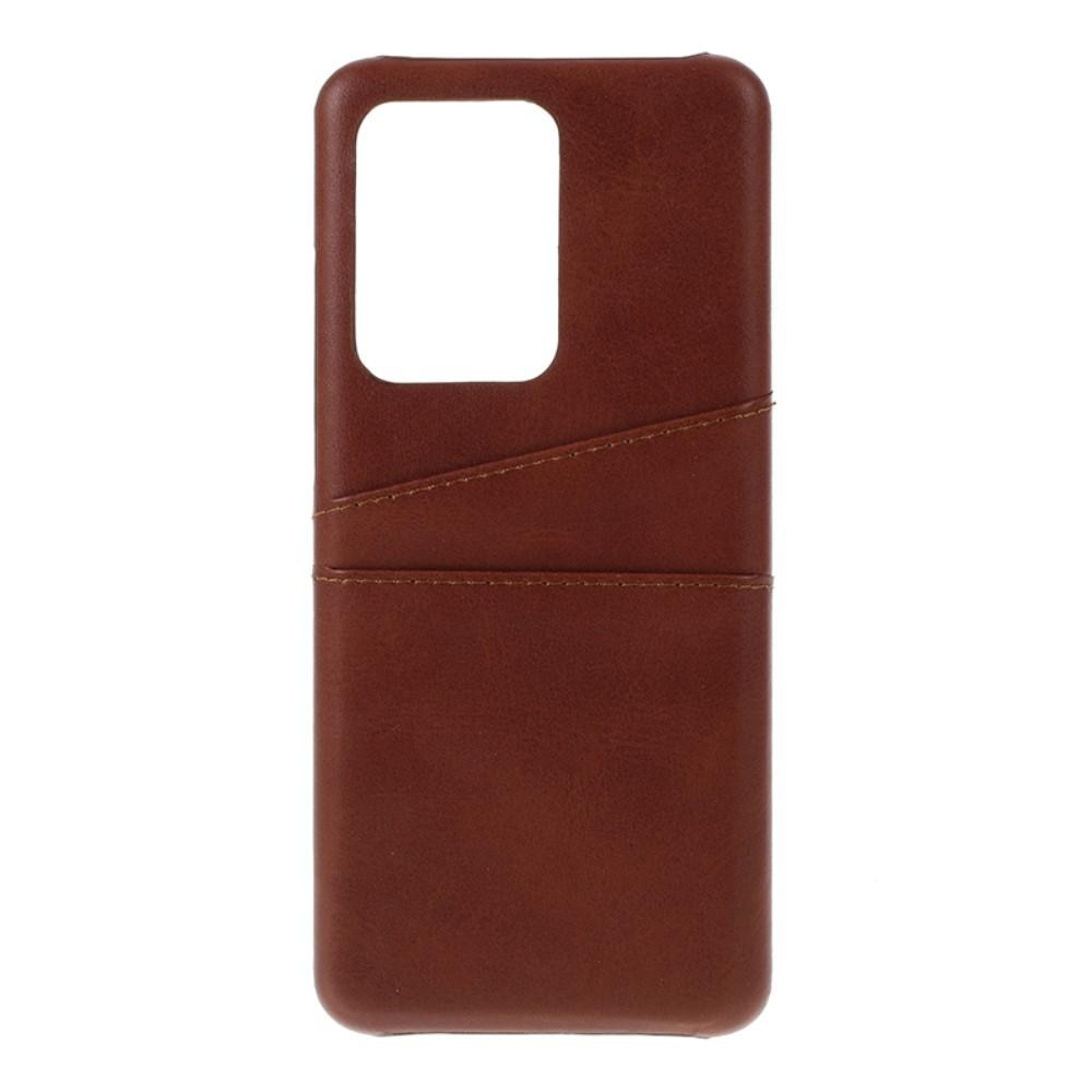 Card Slots Case Samsung Galaxy S20 Ultra brun