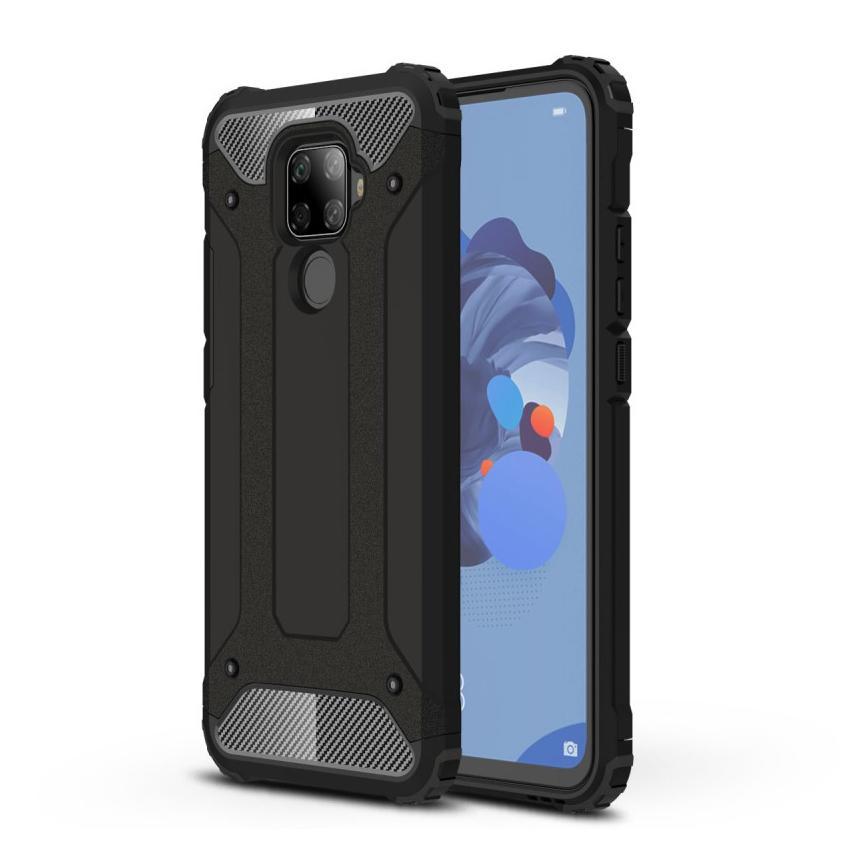 Hybridskal Tough Huawei Mate 30 Lite svart