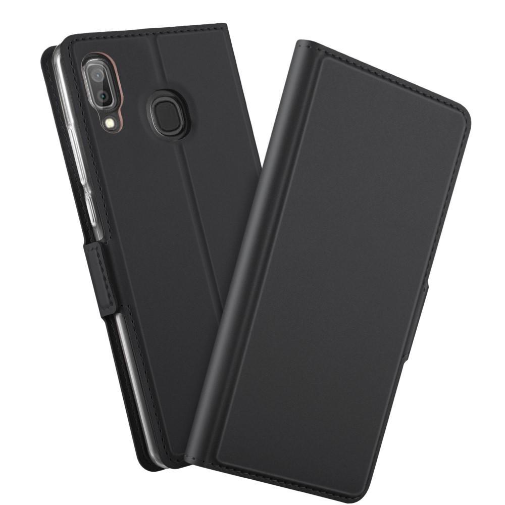 Slim Card Wallet Galaxy A40 svart
