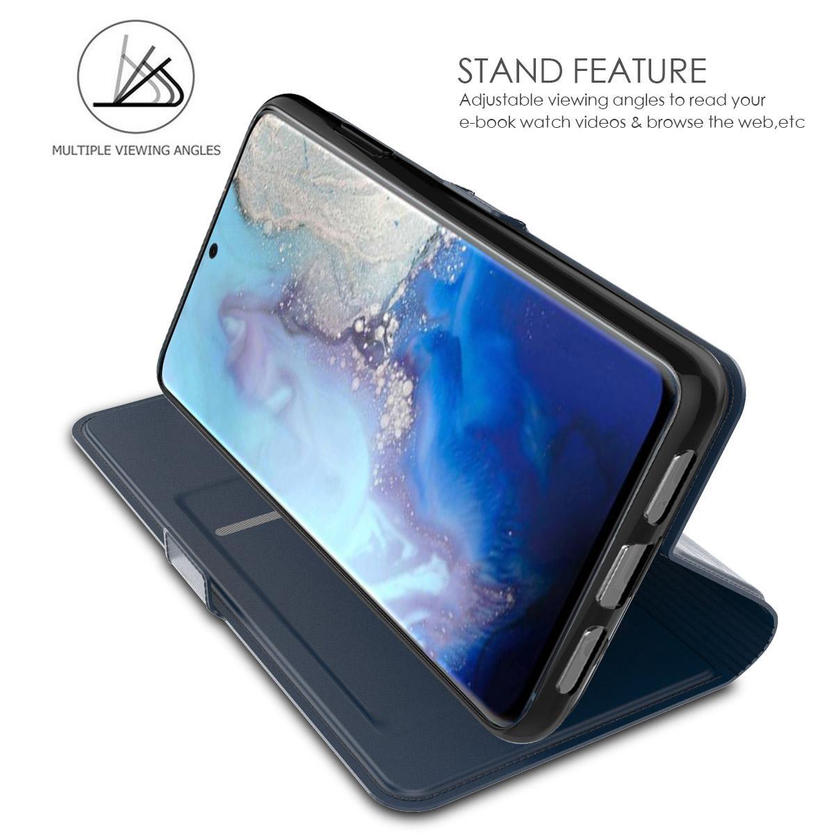 Slim Card Wallet Galaxy S20 marinblå
