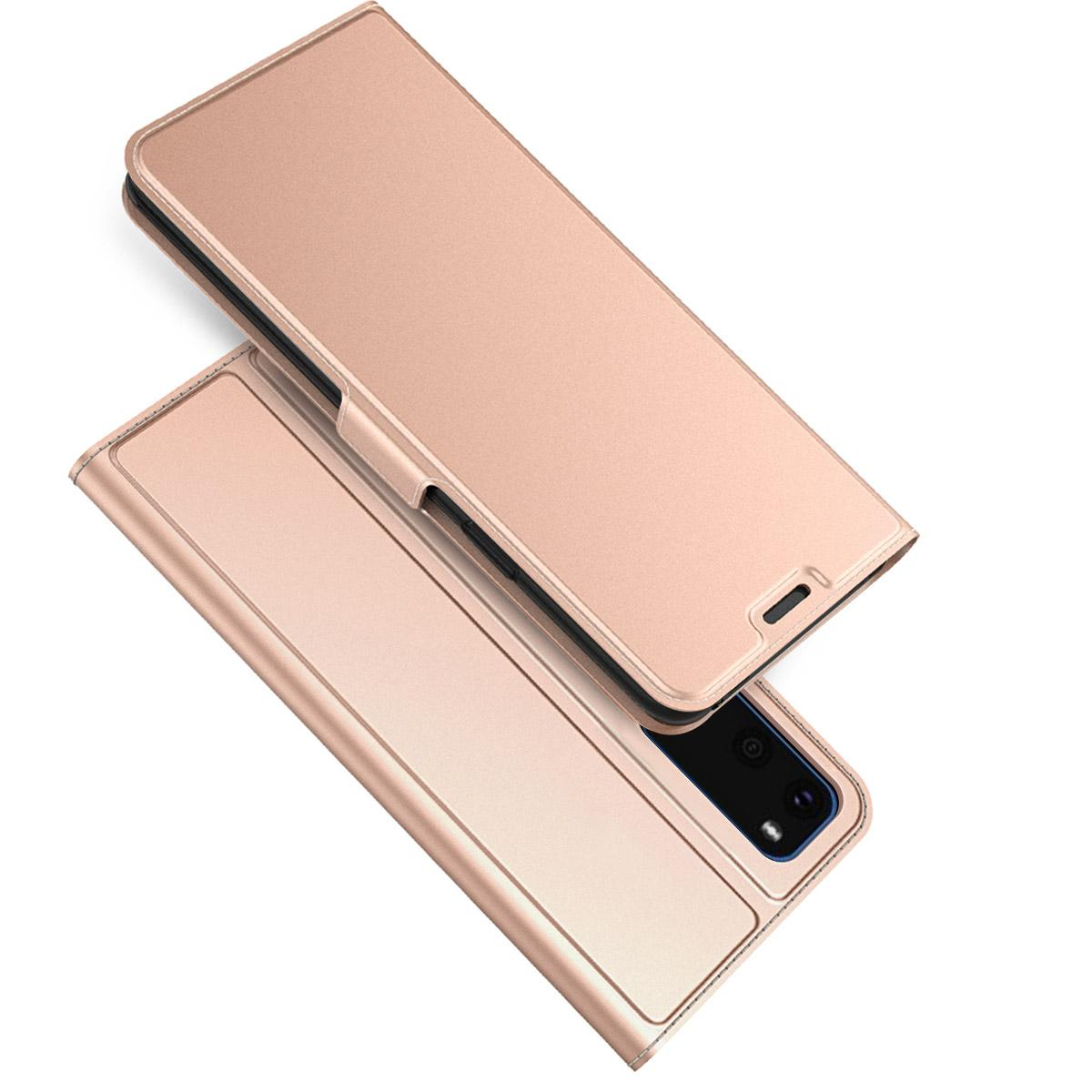 Slim Card Wallet Galaxy S20 roséguld