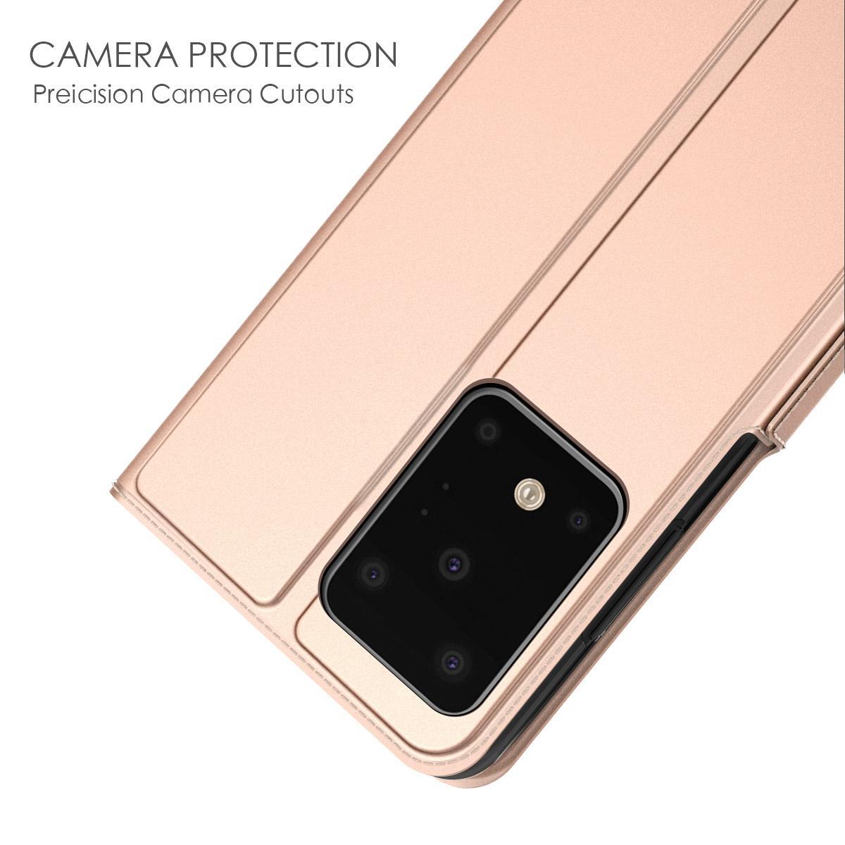 Slim Card Wallet Galaxy S20 Ultra roséguld