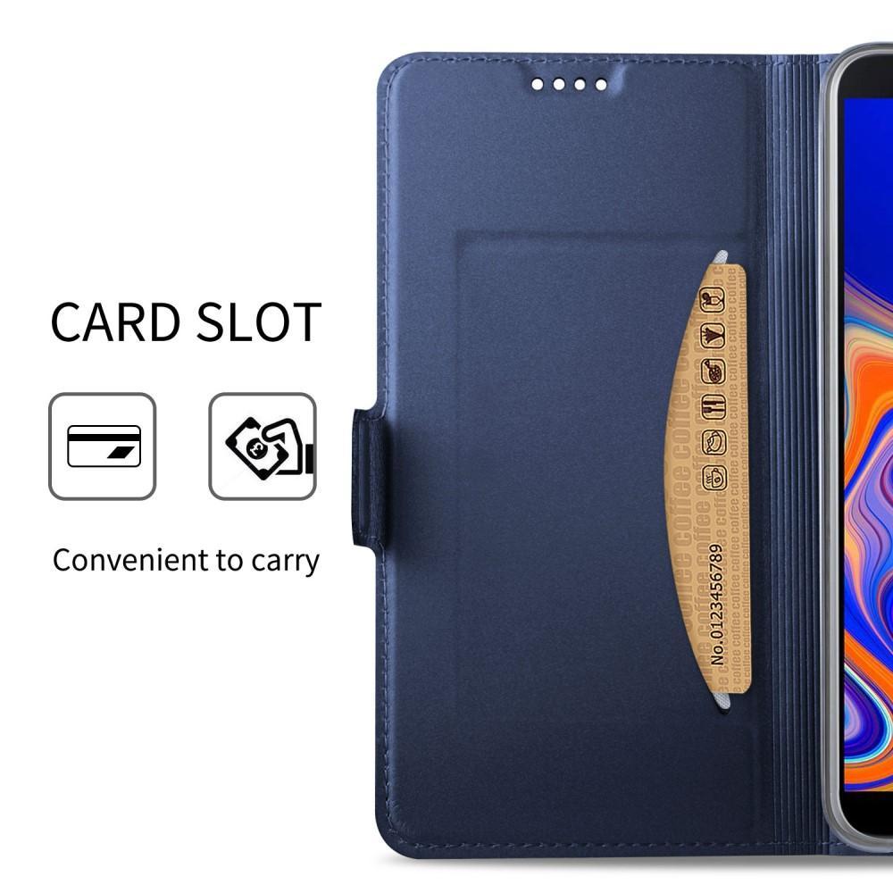 Slim Card Wallet Samsung Galaxy J4 Plus 2018 marinblå