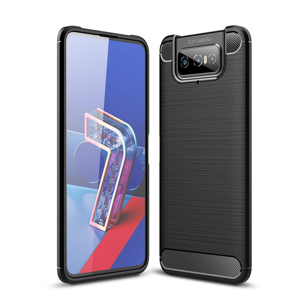 Brushed TPU Case Asus ZenFone 7/7 Pro Black