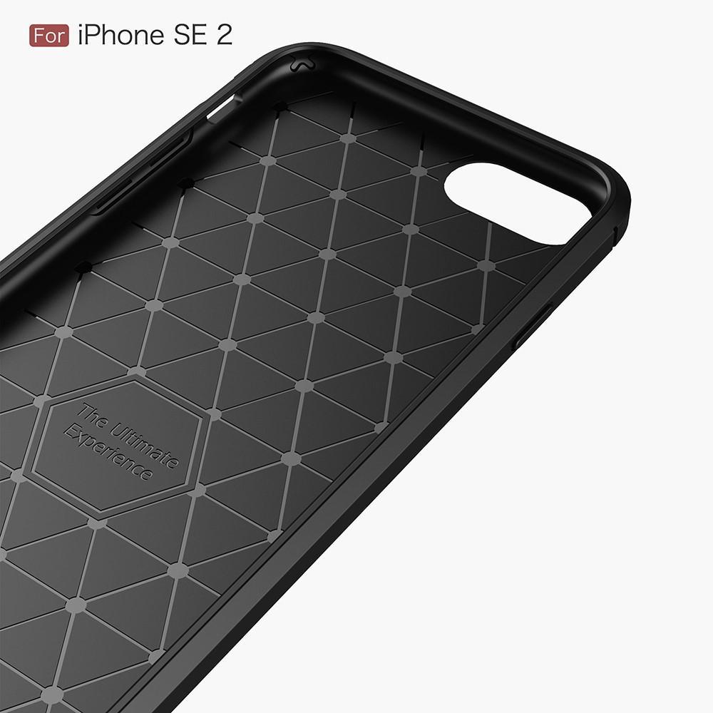 Brushed TPU Case iPhone 7/8/SE 2020 black
