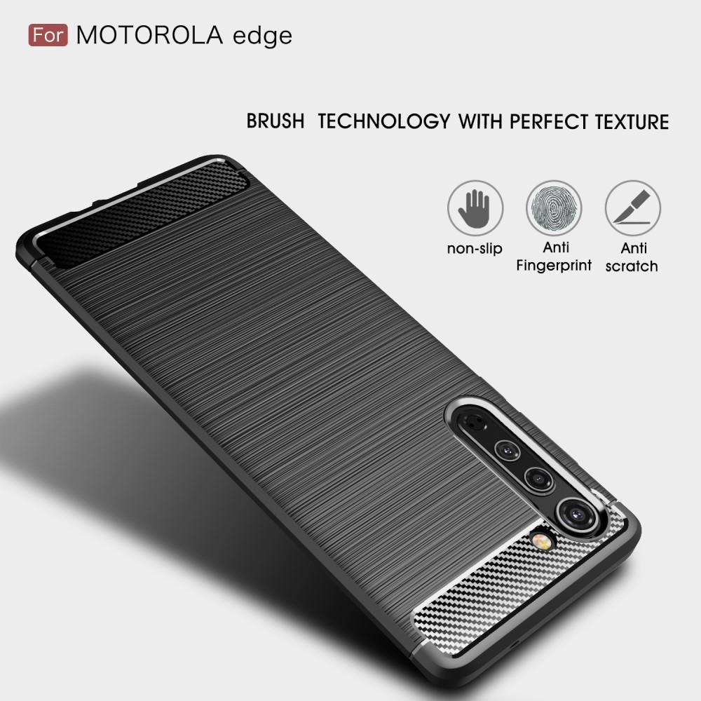 Brushed TPU Case Motorola Edge Black