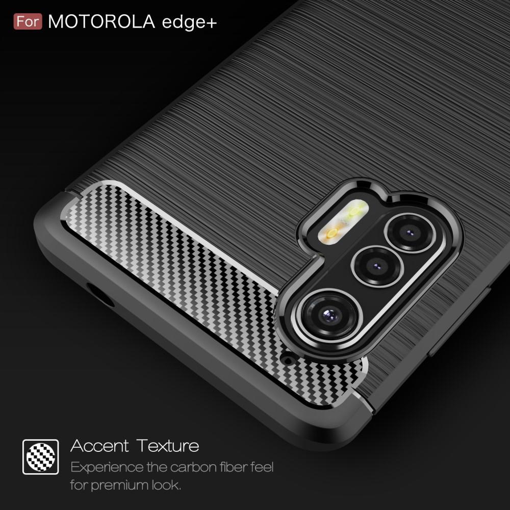 Brushed TPU Case Motorola Edge Plus Black