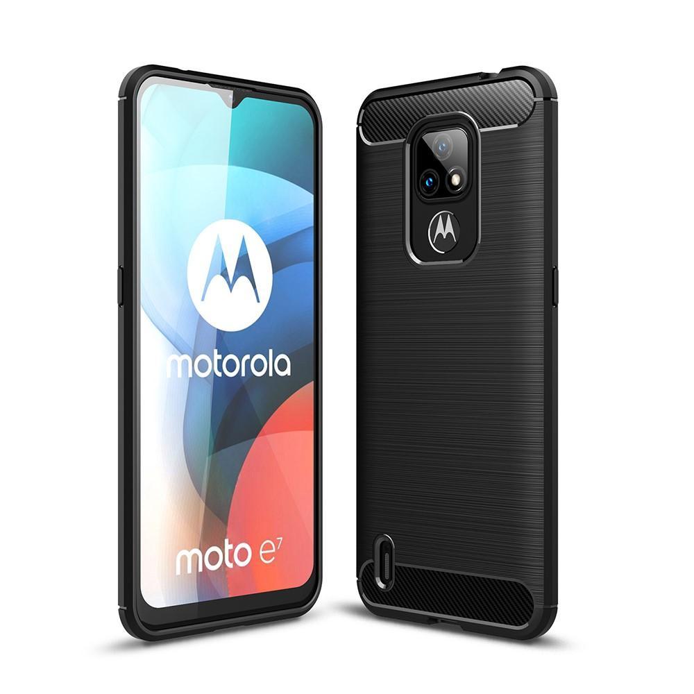 Brushed TPU Case Motorola Moto E7 Black