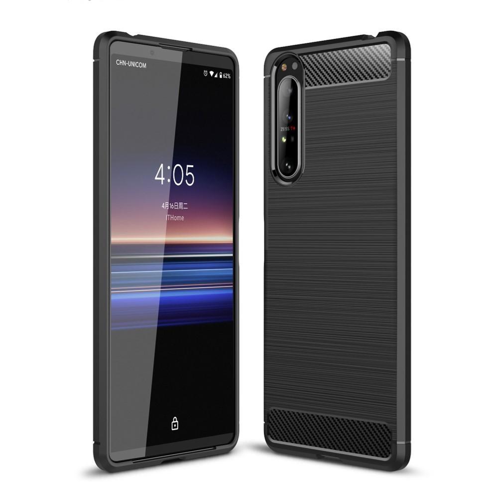 Brushed TPU Case Sony Xperia 1 II Black
