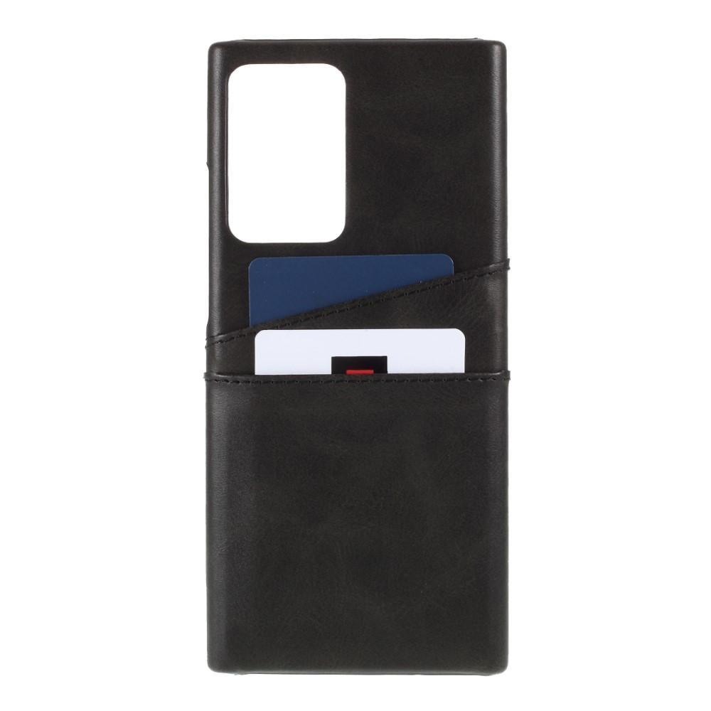 Card Slots Case Galaxy Note 20 Ultra svart