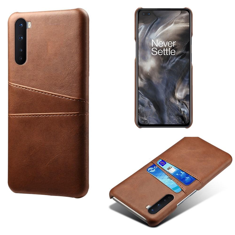 Card Slots Case OnePlus Nord brun