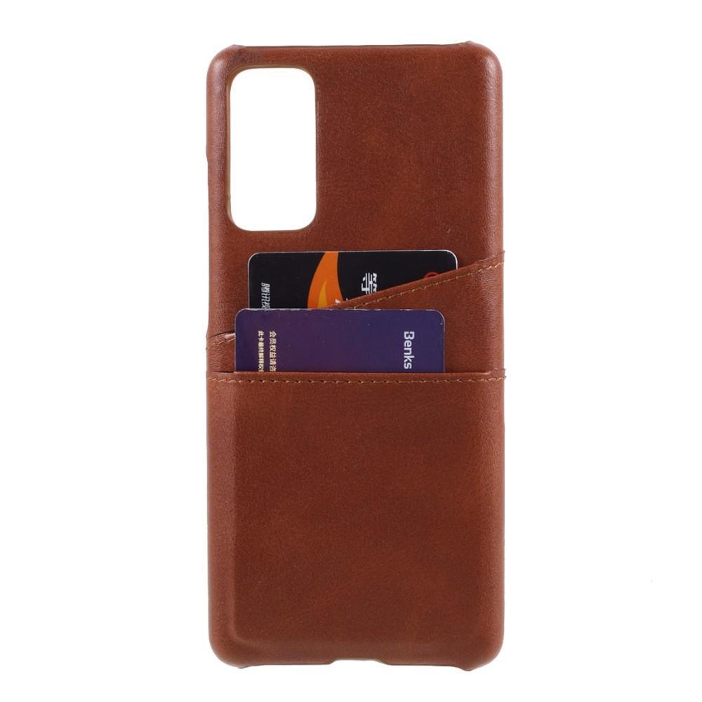Card Slots Case Samsung Galaxy S20 FE brun