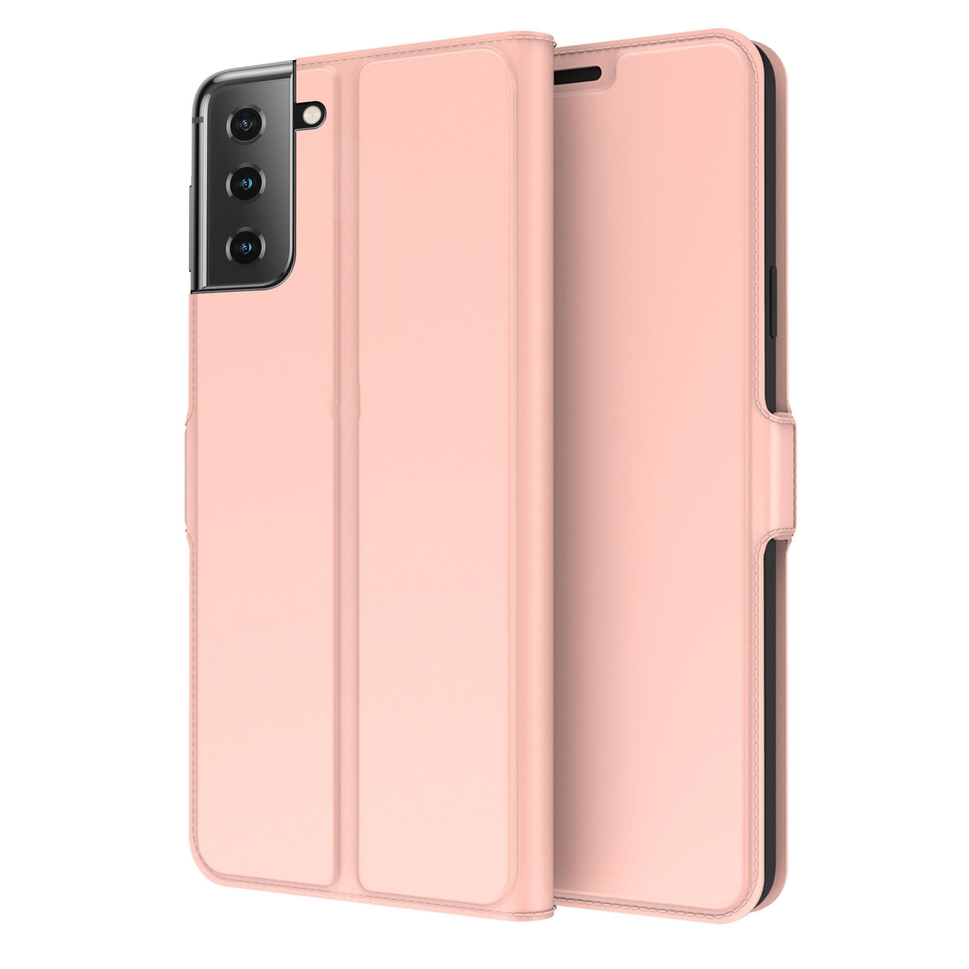 Slim Card Wallet Galaxy S21 roséguld