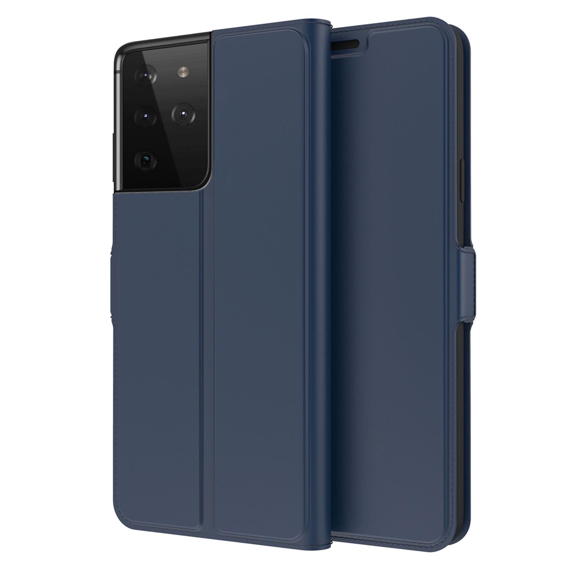 Slim Card Wallet Galaxy S21 Ultra marinblå