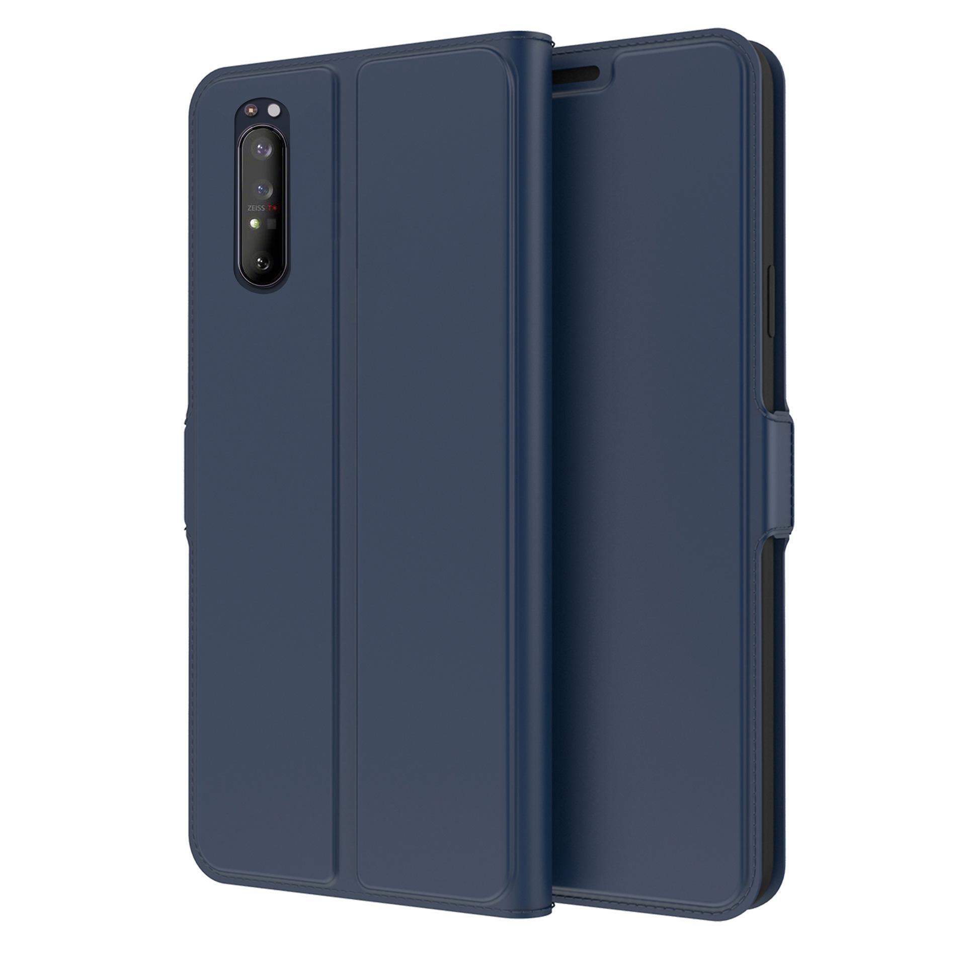 Slim Card Wallet Sony Xperia 5 II marinblå