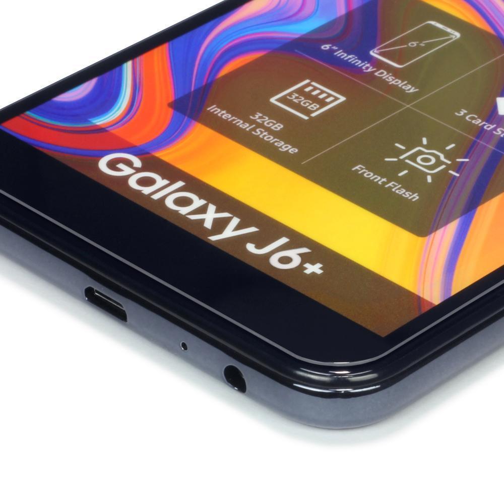Tempered Glass Skärmskydd Galaxy J6 Plus 2018 svart