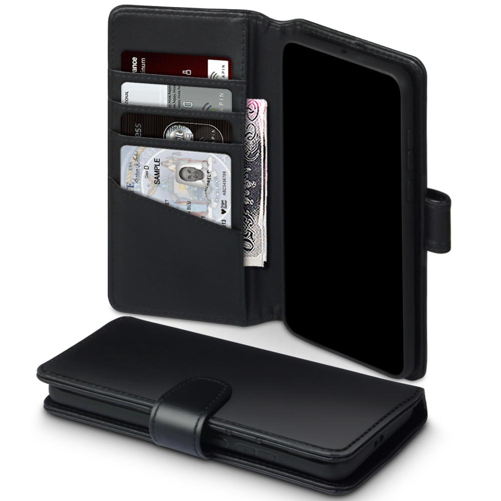 Äkta Läderplånbok Huawei P40 Pro svart