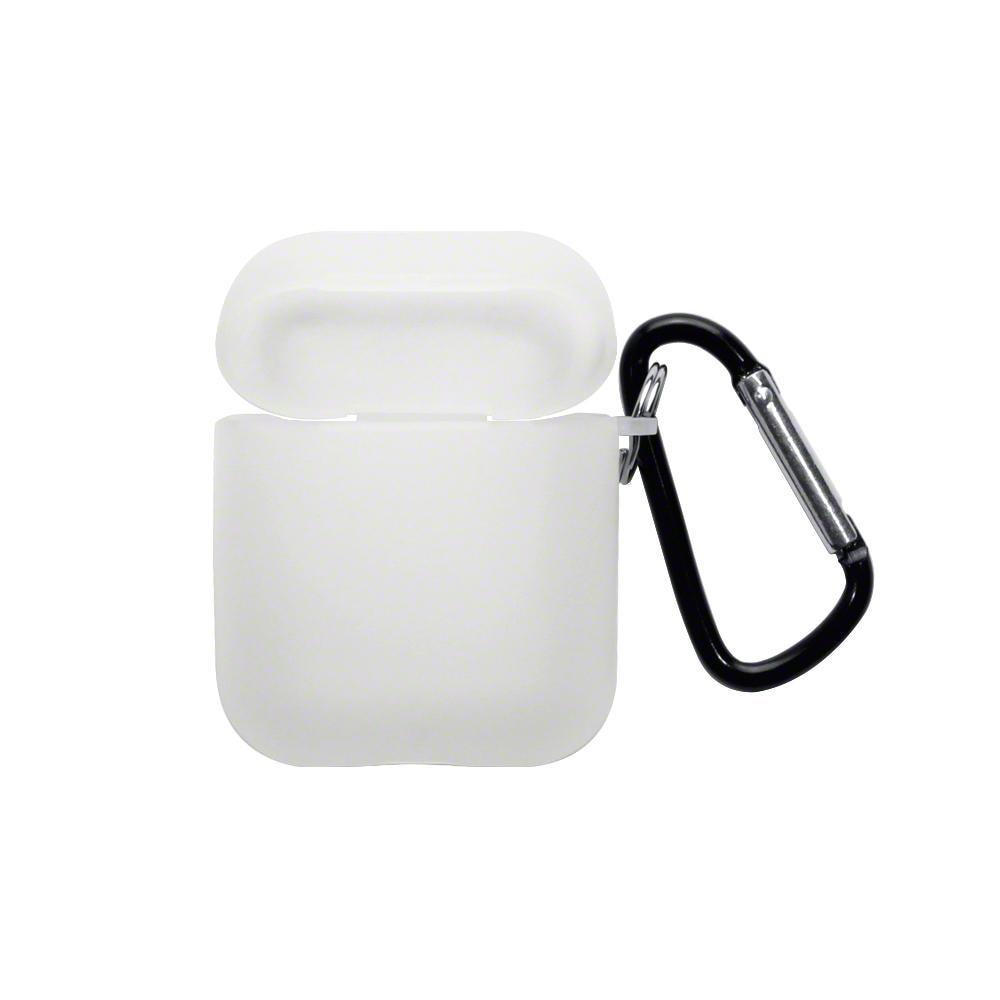 TPU Skal med karbinhake Apple AirPods transparent