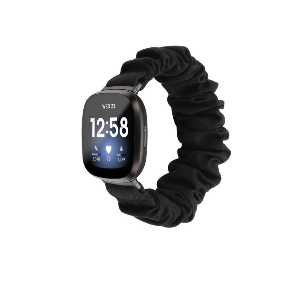Scrunchie Armband Fitbit Versa 3/Sense svart