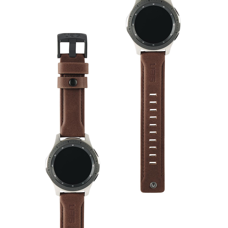 Leather Watch Strap Galaxy Watch 46mm Brown