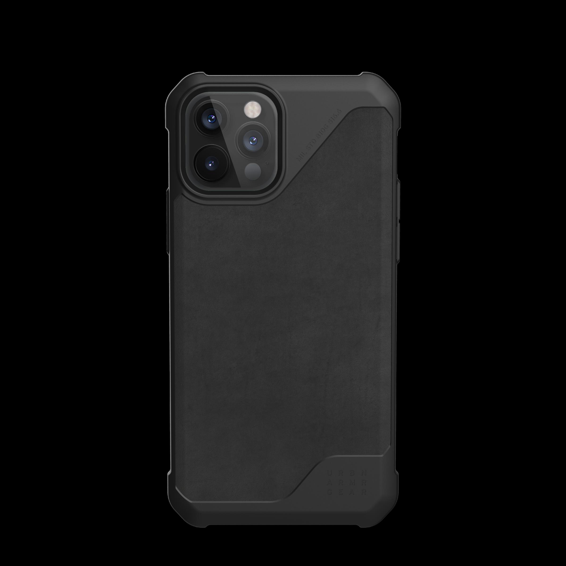 Metropolis LT Case iPhone 12/12 Pro Leather Black