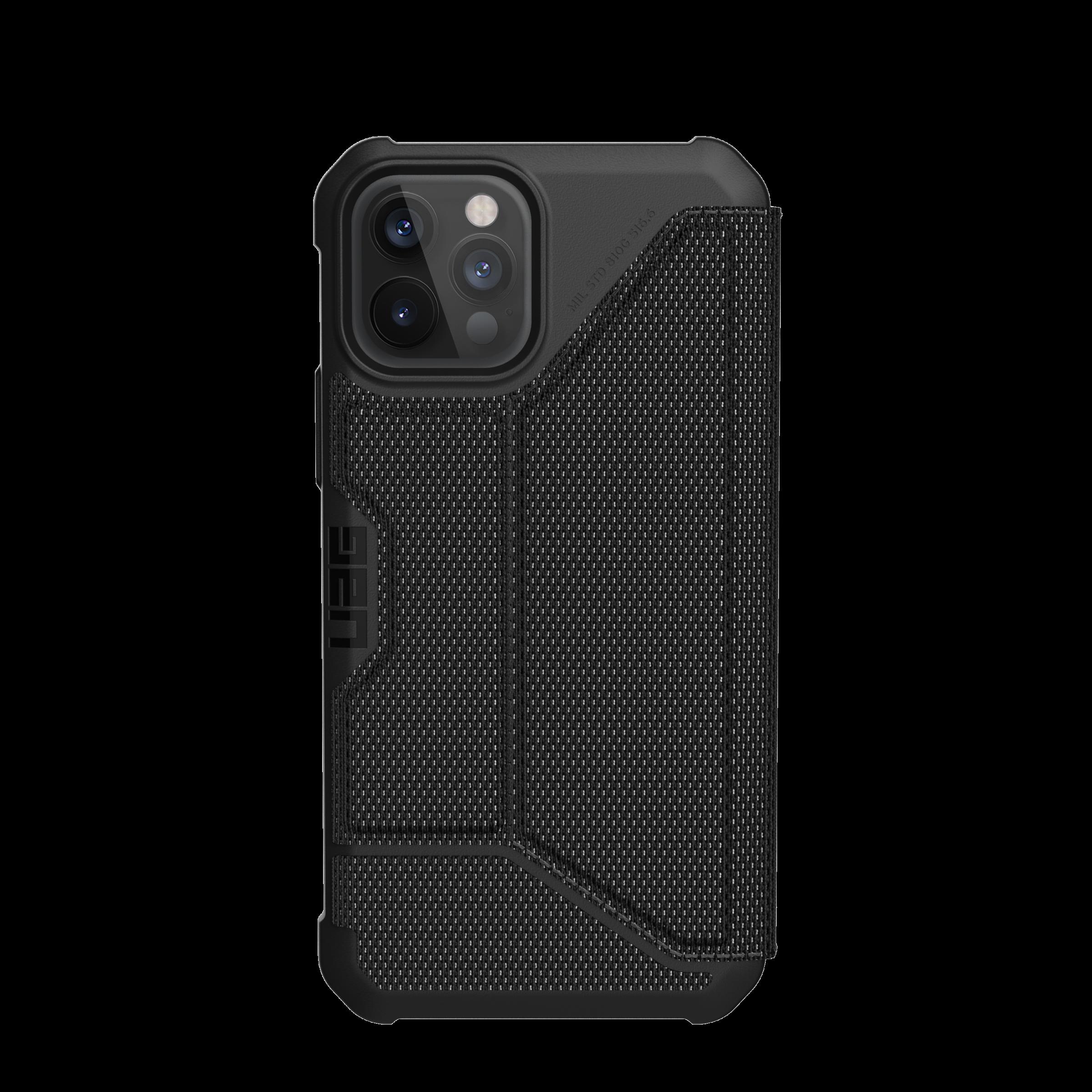 Metropolis Wallet Case iPhone 12 Pro Max Kevlar Black