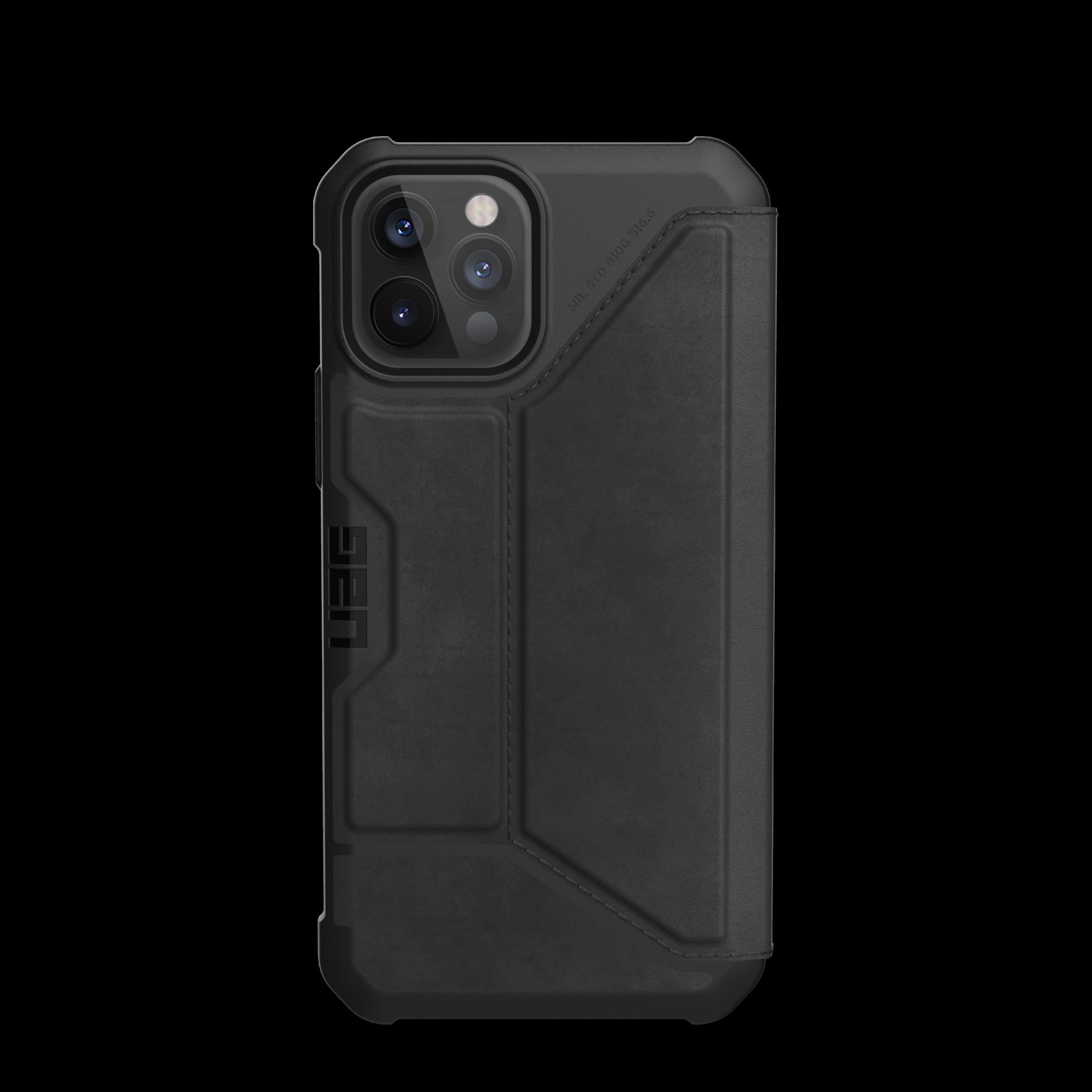 Metropolis Wallet Case iPhone 12 Pro Max Leather Black