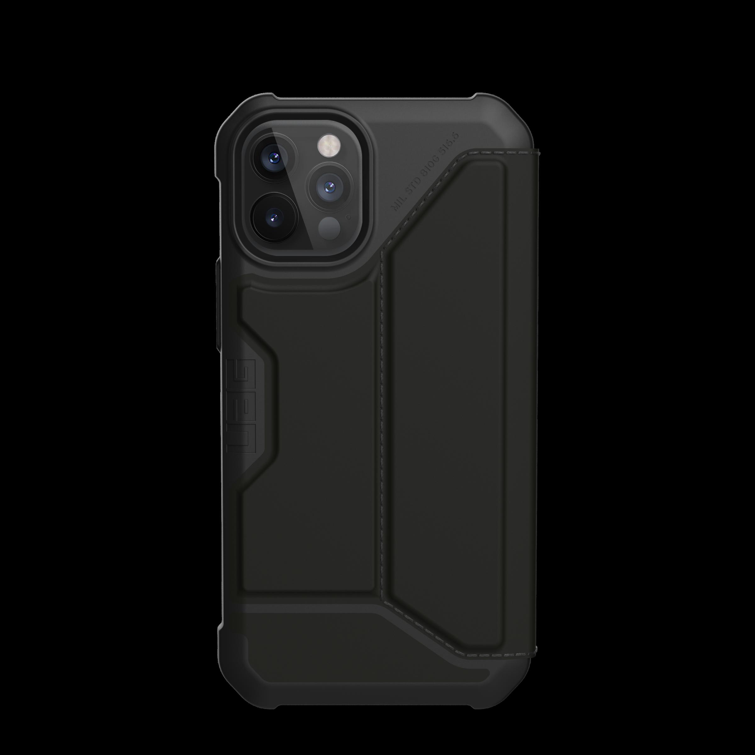 Metropolis Wallet Case iPhone 12 Pro Max Satin Black