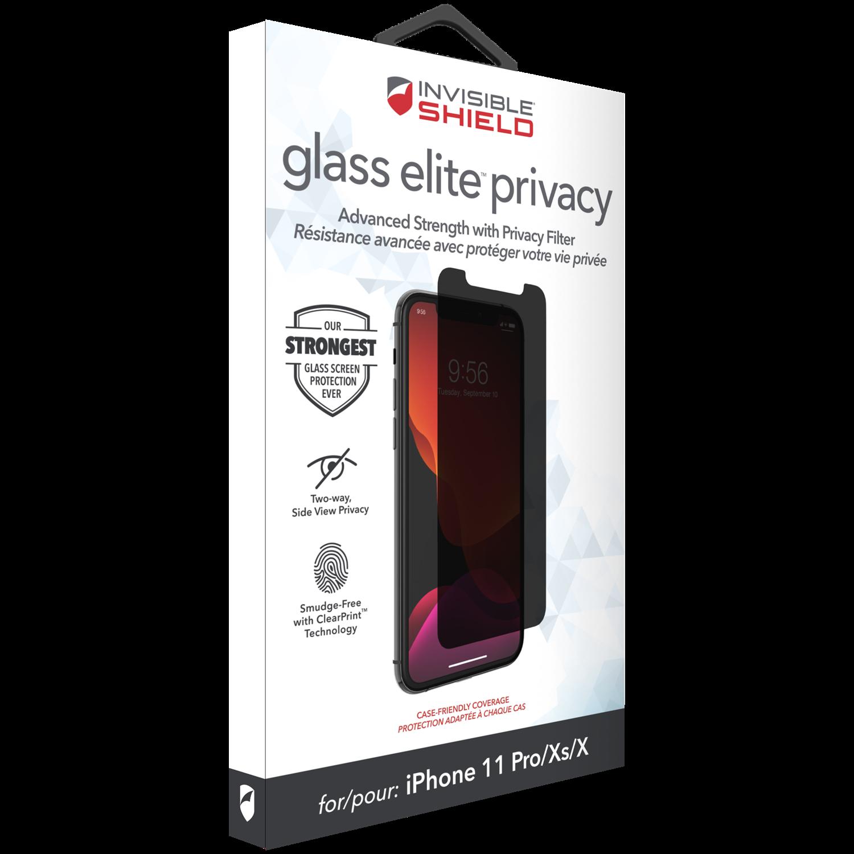 InvisibleShield Glass Elite Privacy iPhone X/XS/11 Pro