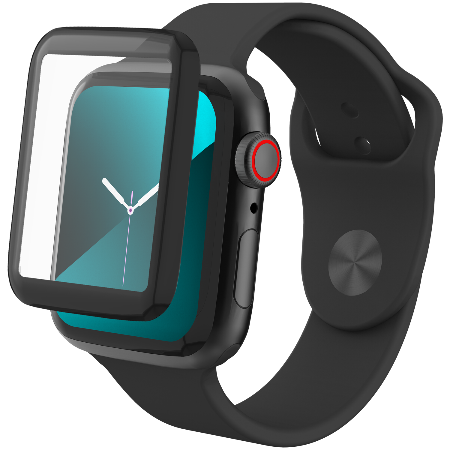 InvisibleShield GlassFusion Apple Watch 44mm Black