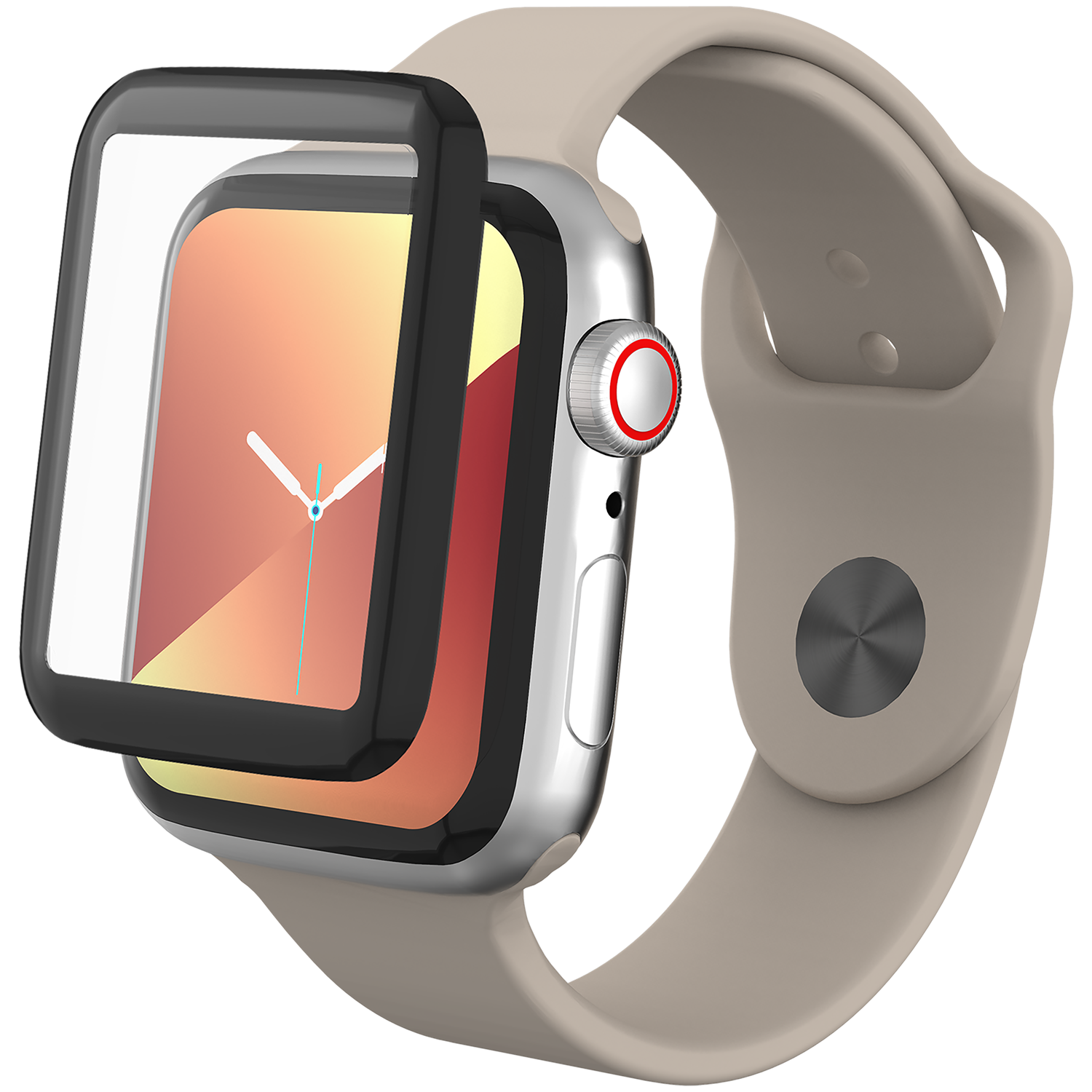 InvisibleShield GlassFusion Apple Watch 40mm Black